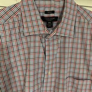 Pronto Uomo Men's Button Front Plaid Shirt